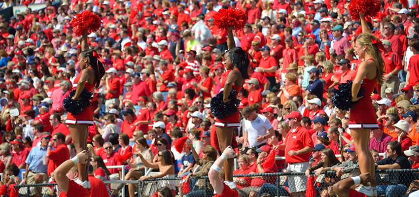 A sea of red shirted fans